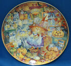 Scaredy Cats Halloween Kitty Cat Collector Plate Bill Bell Porcelain Holiday
