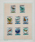 A Page /w 8 Soviet Russian Postage Stamps, Transportation: Airplanes, 1977-1978