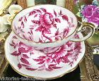 FOLEY TEA CUP AND SAUCER RARE PEONY PATTERN FLORAL PINK TEACUP PATTERN