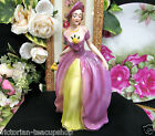 GOEBEL W. GERMANY LADY FIGURINE FF70  PRETTY VICTORIAN LADY PURPLE DRESS