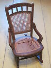ANTIQUE VICTORIAN WALNUT CHILDS ROCKER ROCKING CHAIR  CANE BACK AND SEAT AS FOUN