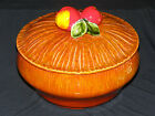 Vintage Covered Casserole with Apple Handle Maurice of Calif USA late 50s early