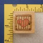 Heart Behind Locked Gate Mounted Rubber Stamp
