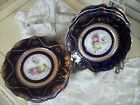 Antique Made in Germany Navy Blue Gold Edge Pink Yellow Roses 6