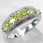 GORGEOUS PERIDOT 925 STERLING SILVER RING SIZE 10