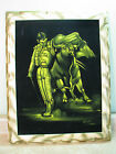 BLACK VELVET/LIGHT PAINTING Vintage SPANISH MATADOR BULL FIGHTER Neon FRAMED ART