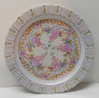 Vintage Plate with Purple Flowers Scalloped Edges Signed Numbered Portugal