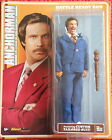 NEW RON BURGUNDY ANCHORMAN 8in. RETRO FIGURE new on card NOC WILL FERRELL COMEDY