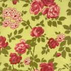 #B203 BTY Cotton Quilt Fabric by the Yard Robyn Pandolph Avoncliff Rose on Green