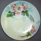 Antique THOMAS SEVRES BAVARIA Hand Painted PLATE Pink Apple Blossoms