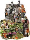 Spooky House Shaped Jigsaw Puzzle Art by Lori Schory SunsOut Made in USA NEW