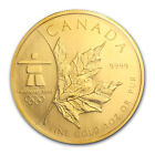2008 1 oz Gold Canadian Maple Leaf Coin Vancouver Olympics SKU 56895