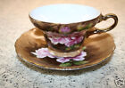 Exquisite Handpainted Melvin Fine China Cup & Saucer