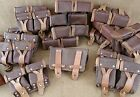 LOT OF 6!!! VINTAGE RUSSIAN MILITARY MOSIN NAGANT LEATHER DUAL AMMO GEAR POUCHES