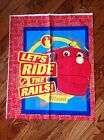 A DISNEY'S CHUGGINGTON WILSON THE TRAIN COTTON QUILTING FABRIC PANEL #3