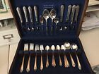 Holmes and Edwards Inlaid Silverplate Lovely Lady flatware serving set for 8