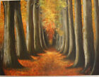 Forest Original Oil Painting Hand painted Canvas Art by Miri Baruch