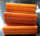 3 x art deco amber bakelite phenolic catalin door drawer handles pulls 95 gms