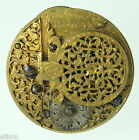 Early VERGE FUSEE Pocket Watch movement by Wm HARRIS, c1700