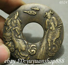 Chinese Dynasty Palace Old Bronze Coin Immortal God Statue Amulet Pendant 风调雨顺
