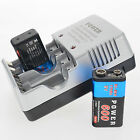 2x 9V 9 Volt 600mAh Power Ni-Mh Rechargeable Battery PPS block+AA AAA 9V Charger