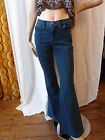 WOMENS RUNFLY 60S 70S HIPPY VINTAGE STYLE FLARED BELL BOTTOM PINTUCK JEANS