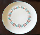 Beautiful Hand Decorated Feather Pattern Serving Plate - Made in USA