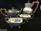Vintage Silver Plated 4 Piece Art Deco Tea Set C1930 Good Quality EPNS