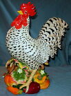 Large Fitz and Floyd Rooster Centerpiece Ceramic Figurine -