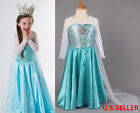 Girls  Frozen Elsa Anna Costume Cosplay Princess Party Fancy Dress