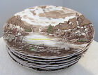 JOHNSON BROTHERS CHINA OLDE ENGLISH COUNTRYSIDE-BROWN- MULTICOLOR 7 LOT PLATES