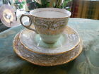 ROYAL STAFFORD TRIO Teacup~Saucer~Dessert Plate Bone China England Gold Trim