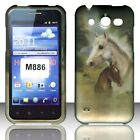 2D Racing Horses Case for Huawei Mercury M886 Cover Phone Protective