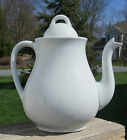 Lovely Antique White Ironstone Teapot Powell & Bishop Hanley England c1867