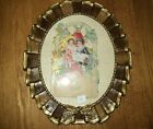 Antique Framed Valentine , Early 1900's Ornate Gesso  Picture Frame