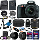 Nikon D5500 Digital SLR Camera w 3 Lens 18 55mm VR Lens + 24GB Best Value Bundle