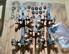 5 Sets of Reclaimed Vintage Antique Glass Door Knobs w/locks, rosettes and keys.