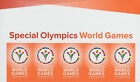 4986 Special Olympics World Games Header W 5 Stamps MNH Free Shipping