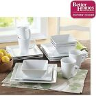 Better Homes and Gardens Square 16 Piece Dinnerware Set  New Microwave Safe