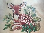 Crewel Embroidery Pillow Kit Erica Wilson Vintage 1976 14x14 7700 Fawn Deer NEW!