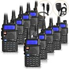 10x BAOFENG UV-5R Two Way Radio Dual Band VHF/UHF Ham Transceiver Walkie Talkie
