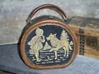 Vintage Child's Round Suitcase Purse Lunchbox RED RIDING HOOD & Wolf 1930-40's