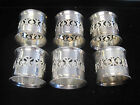 ~VINTAGE  PM STAMPED ~ ITALIAN SILVER PLATED NAPKIN RINGS ~ BEAUTIFUL SET OF 6 ~