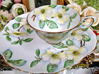 TUSCAN TEA CUP AND SAUCER LIKE SNACK SET DOGWOOD PATTERN PAINTED CHINTZ TEACUP