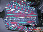 Vintage COTTON TRADER Bill Cosby Type Multi color textured SWEATER • Large