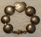 WWII New Guinea ( Australia) Trench or Sweetheart Solid Silver Coin Bracelet