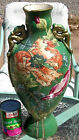 MASONS C. 1800's VASE FOO DOGS ORIENTAL DRAGONS PORCELAIN POTTERY GOLD HP