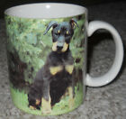 VTG~LANDMARK STOCK EX.~XPRES CORP.~1994~DOBERMAN COFFEE MUG~PIC~BARBARA AUGELLO