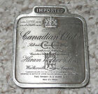 VINTAGE~1975~CANADIAN CLUB WHISKEY BELT BUCKLE~# O-168~BERGAMONT BRASS WORKS