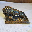 LION'S CLUB Melvin Jones Birthday Program BRONZE STATUE Paperweight Figurine
